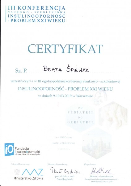 Certyfikat-isulinoopornosc
